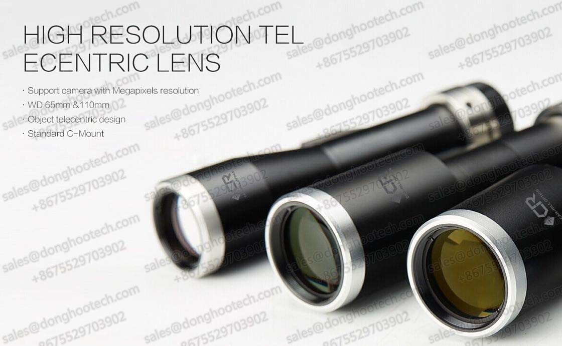 High Resolution Telecentric Optical Lens for CCD Camera and Visual Module 17.5mm ~ 150mm