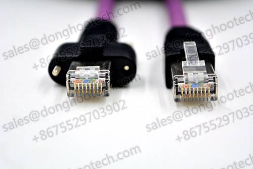 Industrial Camera Gigabit Ethernet Cable Assemblies With Screw Locking OEM