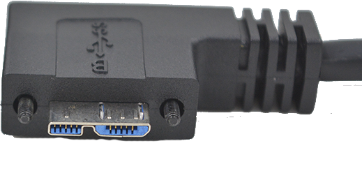 USB3.0 Micro B Male Side Angle Exit Right